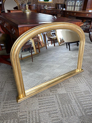 Gold arched top mirror
