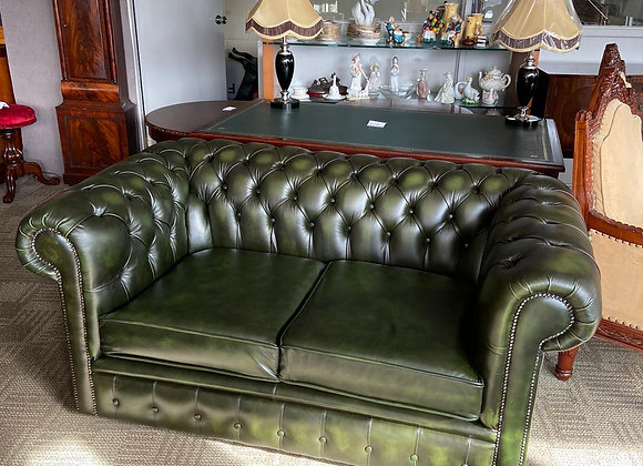 Green 2 seater chesterfield - made to order