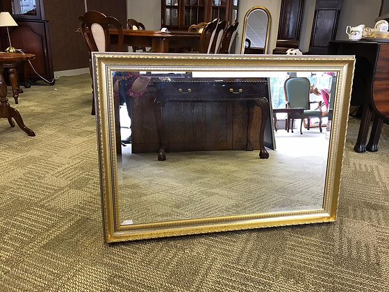 Large rectangle gold mirror
