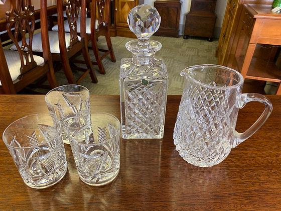 Tyrone Crystal decanter Set  Decanter, Jug and Glass set