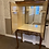 Thumbnail: Mahogany display drinks cabinet 2 glass shelves with mirror back