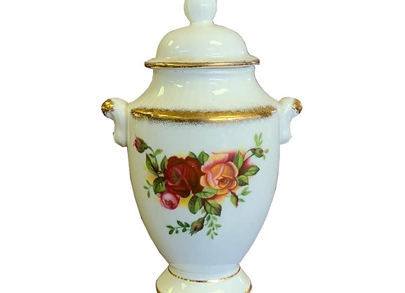 Royal Albert Old Country Roses Small Urn With Lid