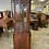 Thumbnail: Mahogany bow front corner unit with 2 wooden shelves with lower cupboard