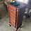 Thumbnail: Narrow mahogany pedestal jewelry chest