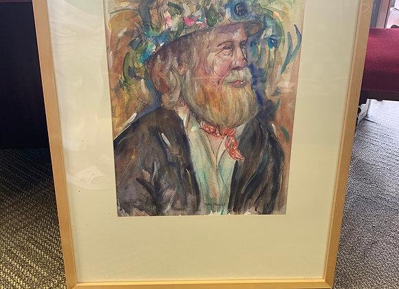 'Morris Man' Watercolur, Gouache and Pencil by Patti Harrild
