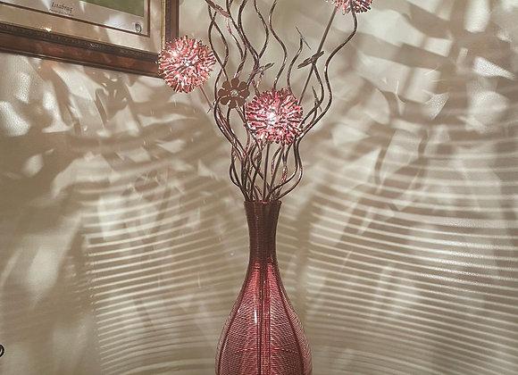 A stunning classic sleek polished copper colour aluminium table/floor lamp