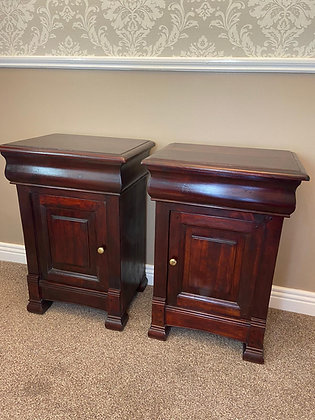 A pair of rosewood side lockers