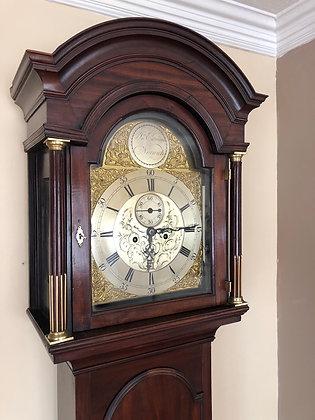 A 1820's mahogany grandfather clock by John Edwards, Norwich