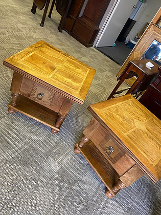 A pair of Barker and stonehouse mango side tables.