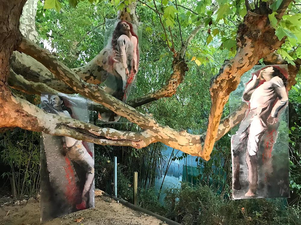 Installation dans l'arbre de la cour des ancêtres