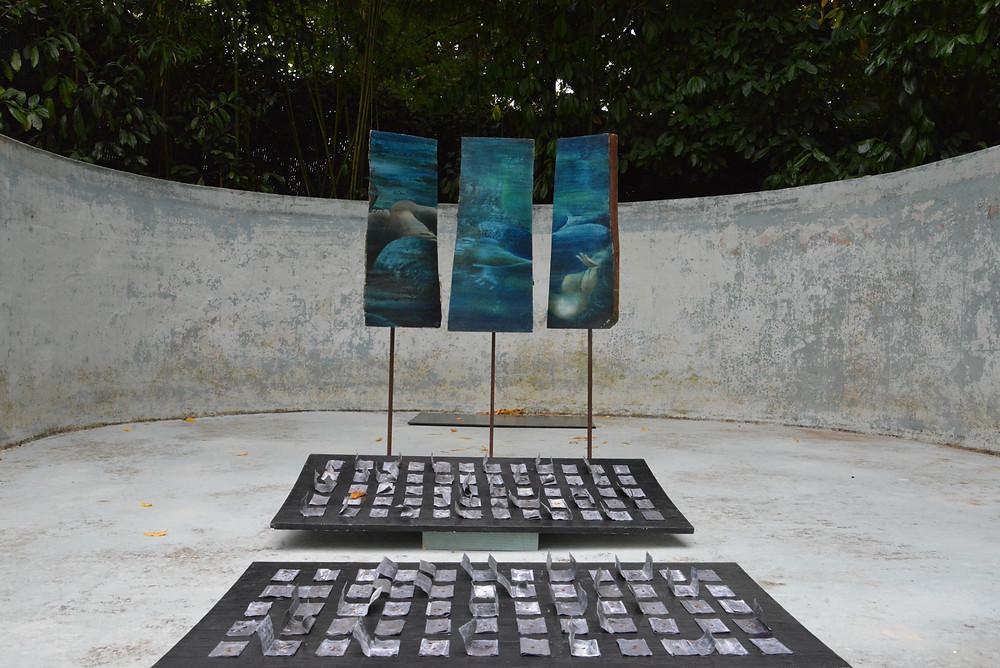 Installation dans la piscine