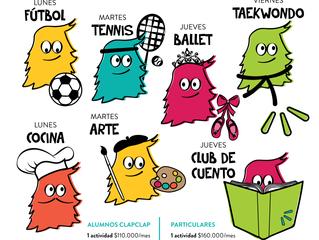 Actividades Extracurriculares en ClapClap