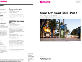 'Smart Art \ Smart Cities - Part 1' New London Architecture