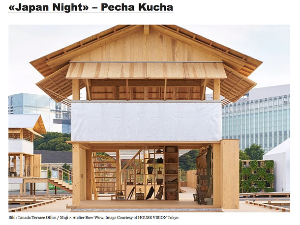 Architekturforum Zürich, «Japan Night» – Pecha Kucha