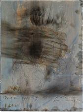 Featured possible outcomes of our dark hole/ 2019/ 30x40cm/ protisk, akryl na plátně, soukromá sírka