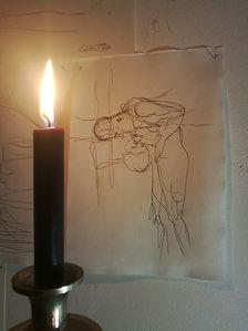 sketches to infitity/ 2019/ 23x15 cm/ protisk na ručním papíře