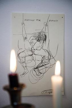 sketches to infitity/ 2017/ 23x15 cm/ protisk na ručním papíře