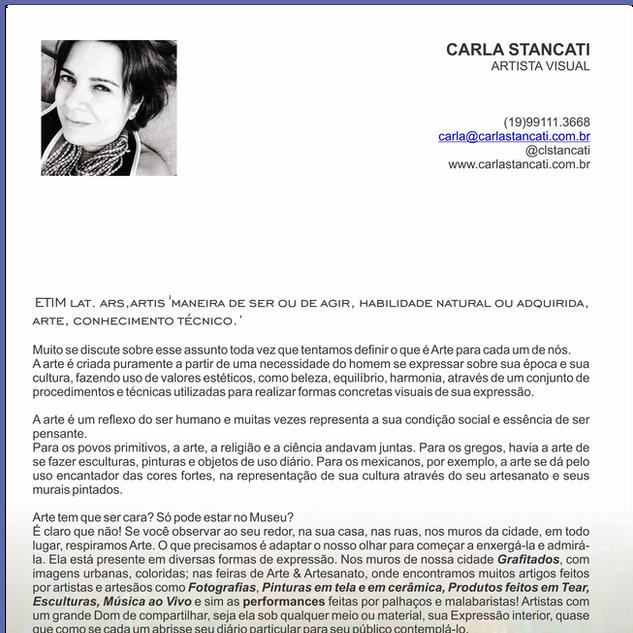 Coluna Arte - Carla Stancati