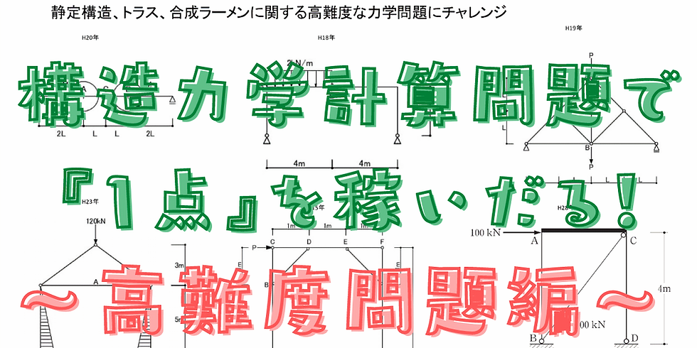 6/6(日)19時~(60分) 力学計算問題で『1点』を稼ぐ【高難度問題】
