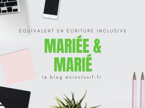 Mariée et marié en écriture inclusive