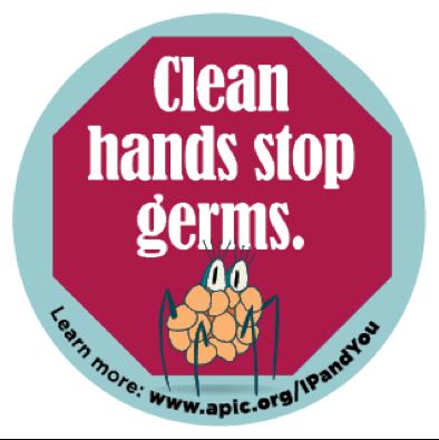 Clean hands stop germs.