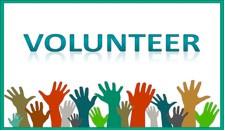 Volunteer Week image with raised hands in the air.