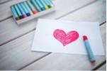 Valentine Heart drawn with marker