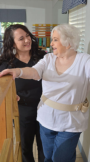 Marshall Manor resident using our therapy services