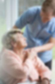 Shoals Home Healthcare nurse with patient