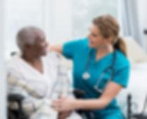 Community Care Hospice Nurse and Patient Florence Alabama