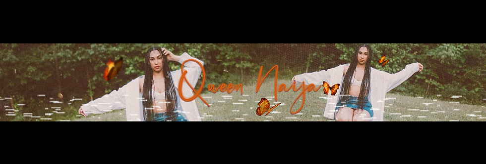 Queen Naija Banner (Orange)