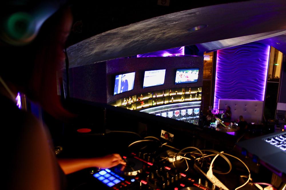 DJ Josie Rock DJing