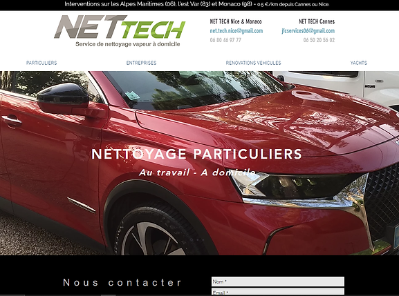 Site web NET TECH Alpes maritimes