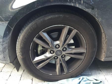 La préparation esthétique d'une roue