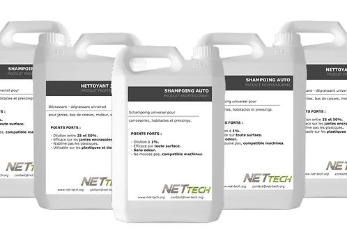 PACK PRODUITS DE NETTOYAGE AUTO - NET TECH