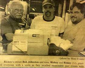 A family tradition for over 50 years! Bob Johnston and his sons Ronnie and Ricky.