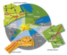 Map of the london economic region