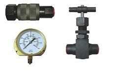 Hydraulic Hose, Shut off Valve, Quick Coupler, Pressure Gauge