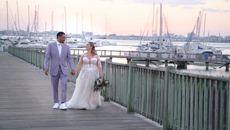 Gorgeous wedding at The Charleston Harbor Resort /Grab some tissues! Couple's vows will make you cry