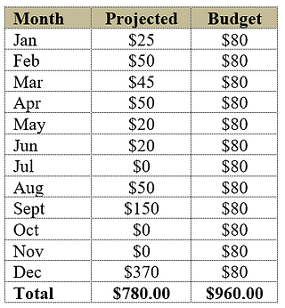 Planning for holiday gifts in the budget