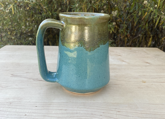 Teal and Copper Stein