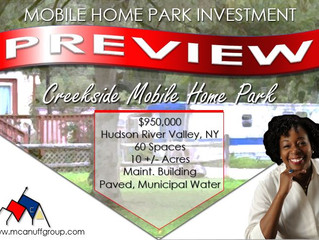Spotlight: Creekside Mobile Home Park for Sale in New York
