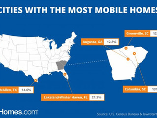 South Carolina has Most Mobile Homes in the United States