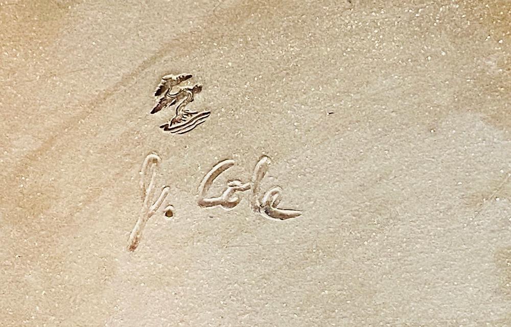 John Cole Bonsai pot pottery signature