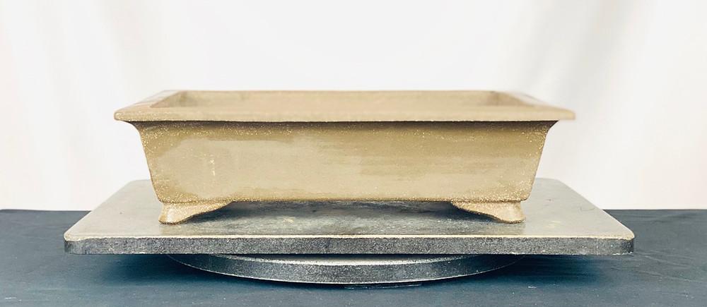 John cole slab build unglazed bonsai pottery pot