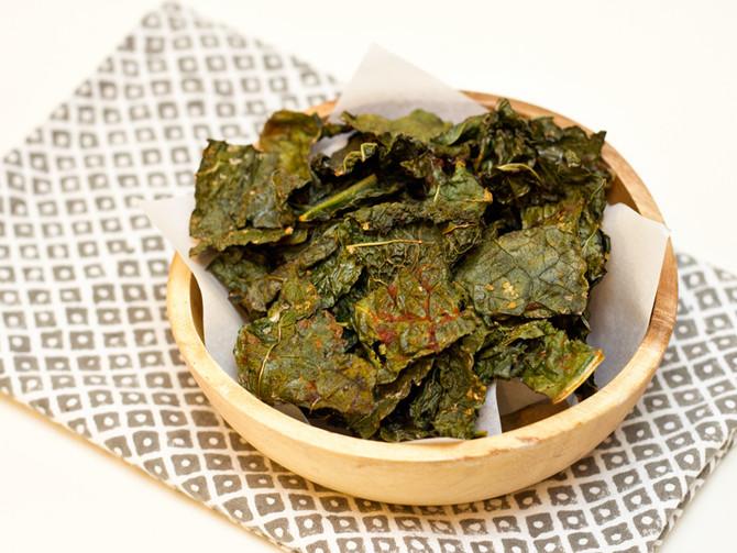 """Chips de  couve crespa ("""" kale"""")"""