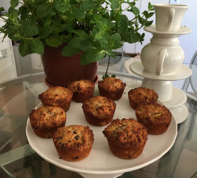 Muffin funcional: sem glúten sem lactose