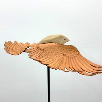 Bird in Flight  leather, wood, steel $650-$750 each