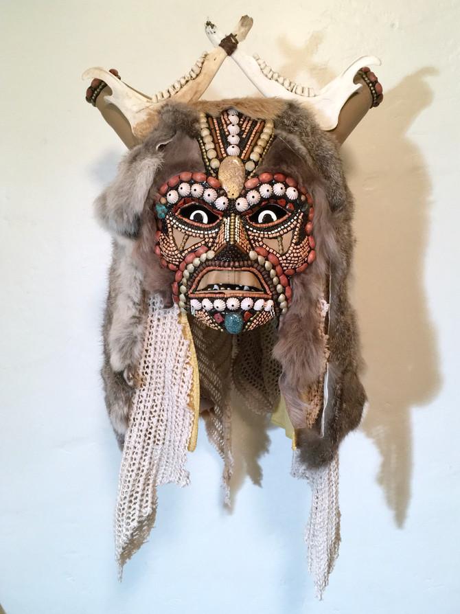 Wild Woman Mask Mixed media  $4000