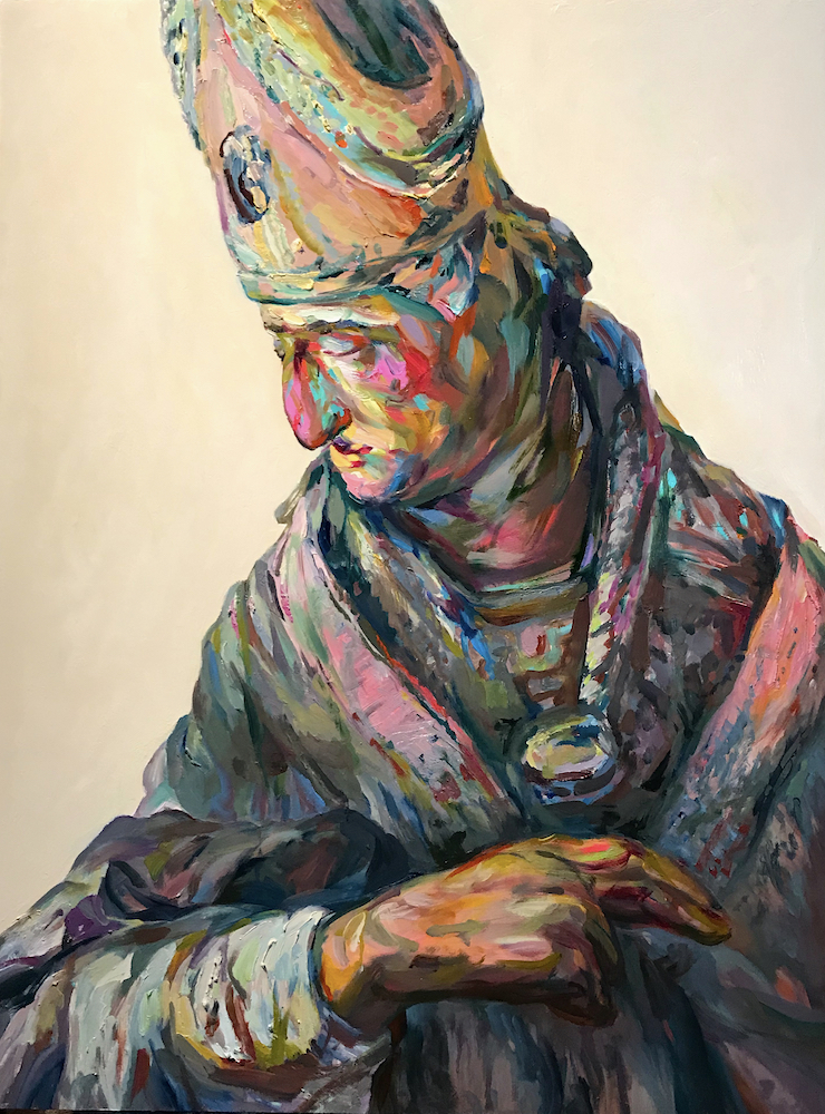 "Josser, 2019, oil on canvas,40""x30"""